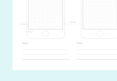 iPhone 6 Printable Sketch Paper
